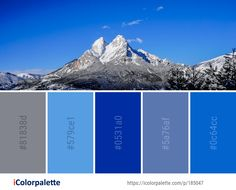 Color Palette ideas from 693 Winter Images Mountain Images, Sky Mountain, Color Combos, Color Schemes, Winter Images, Collor, Find Color, Winter Colors, Colour Palettes