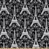 Amazon.com: 44'' Wide April In Paris Map Black/White Fabric By The Yard: Arts, Crafts & Sewing