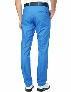 J Lindeberg Official Store, Gusten Narrow fit Micro Twill, blue, Golf Pants, 36MG123090006