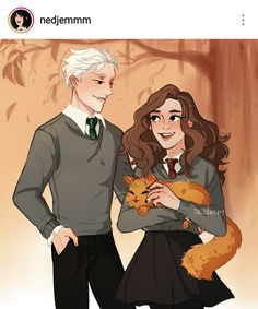this is actually rlly cute ✨☁️ Harry Potter Ships, Harry Potter Anime, Harry Potter Fan Art, Harry Potter Fandom, Harry Potter Memes, Hermione Granger Art, Draco Malfoy, Draco And Hermione Fanfiction, Scorpius Rose