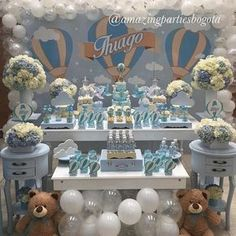 Hot air balloon theme party or baby shower