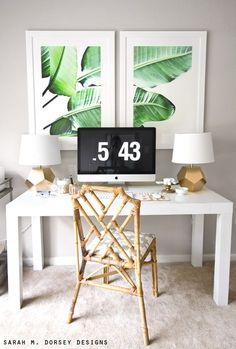 Un bureau tendance | design d'intérieur, décoration, maison, luxe. Plus de nouveautés sur http://www.bocadolobo.com/en/inspiration-and-ideas/