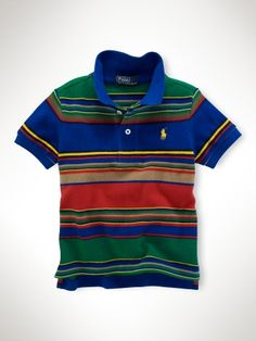 Striped Mesh Polo Shirt - Infant Boys Polos - RalphLauren.com