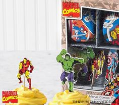 For Logan @Christie Cahlstadt Marvel™ Heroes Cupcake Decorating Kit #PotteryBarnKids