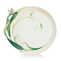 Franz Porcelain Peace & Harmony Bamboo Porcelain Ornamental Round Plate