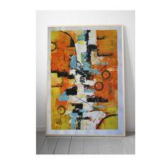 Quiero compartir lo último que he añadido a mi tienda de #etsy: Abstract wall art. Canvas sheet in acrylic paint. Abstract, modern picture for home decoration.. Christmas. Regalos de navidad. http://etsy.me/2yZApww #arte #pintura #naranja #inauguraciondeunacasa #navida