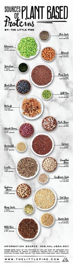 If you are a vegan, you can totally get all your protein needs met by eating a whole food plant-based diet. Many vegan athletes have proved this point, but you need to be smart about where to find out. Thats why this vegan, plant-based protein chart is re Plant Based Eating, Plant Based Diet, Plant Based Recipes, Healthy Snacks, Healthy Eating, Healthy Recipes, Clean Eating, Diet Recipes, Diet Tips