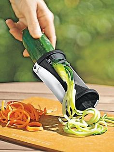 Spiral Slicer - Julienne Vegetables in a Snap. Zucchini noodles! From the Solutions catalog.