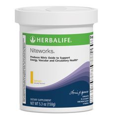 Niteworks®  Esta fórmula nocturna apoya la energía, la salud vascular y circulatoria, y promueve la producción de Óxido Nítrico (NO) por la noche que es cuando los niveles de NO son más bajos