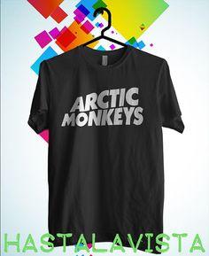 arctic monkeys logo shirt men and women black by hastalavistababy