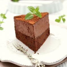 Chocolate cake with chocolate mousse and Baileys. Moist chocolate sponge cake, chocolate mousse with delicious Baileys. Insane! (in Polish)