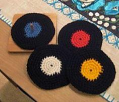 Crochet Vinyl Record Coasters