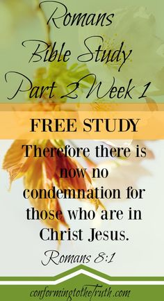 Praising God today for His Grace! Join Conforming To The Truth as we do a Bible Study in Romans 8~16.