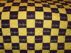 crown royal quilt images | Custom Made Crown Royal Quilt Couch Throw Man by LuluBelleQuilts