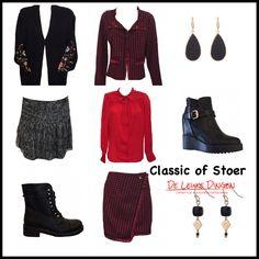 Mix & Match bij www.deleukedingen.nl     #classic #cool #boots #bikerboots #chanellook #skirt #fashion #accessoires #deleukedingen