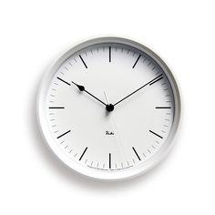 「TAKATA Lemnos online shop」で取り扱う商品「RIKI STEEL CLOCK[電波時計]/ ホワイト(WR08-24 WH)」の紹介・購入ページ