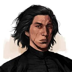 Sylvia Snow - Ideas of Star Wars Kylo Ren - machomachi hi my name is ebony darkness dementia kylo ren and i have long ebony black hair and black eyes like limpid tears Adam Driver, Kylo Rey, Knights Of Ren, Star Wars Kylo Ren, Hayden Christensen, The Force Is Strong, Star Wars Gifts, All Movies, Reylo