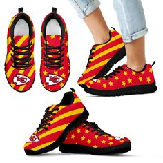 Splendid Star Mix Edge Fabulous Kansas City Chiefs Sneakers – Best Funny Store