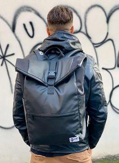 Dunut weekender Backpack ready for Roma. Geneva Switzerland, Swiss Design, Designer Backpacks, Weekender, Motorcycle Jacket, Seasons, Winter, Jackets, Accessories