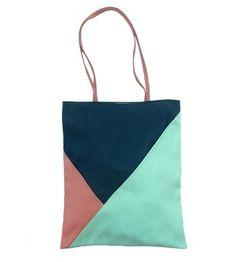 df8b4aa5485b geometric tote by Vanesa Peña Cute Tote Bags