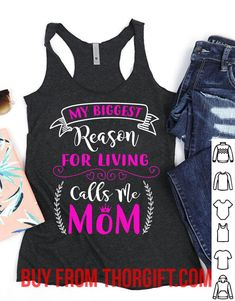 My biggest reason for living calls me mom | Mom Gifts | Mom Shirts | Gifts For Mom | Gift Ideas For Mom – Fine Public Call My Mom, Call Me, Mothers Day Shirts, Presents For Mom, Mom Gifts, Shirts With Sayings, Best Mom, Public, Gift Ideas