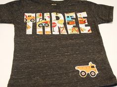 Construction truck birthday shirt bulldozer dump truck truck theme birthday party excavator. #Cake
