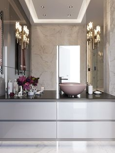 32 Solutions for Bold Bathrooms Will Be the Major Trend for 2019 - walmartbytes Bathroom Design Luxury, Dream Apartment, Dream Bathrooms, Room Decor, House Styles, Bathroom Ideas, Bathroom Goals, Bathroom Inspo, Behance