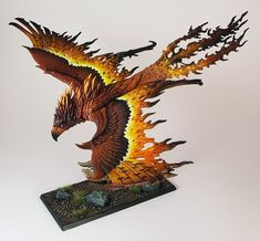 High Elves Flamespyre Phoenix - brighter photo