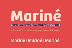 Mariné font by TipoType