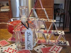 Alice in Wonderland Party idea for the drinks table by Alejandra Cool