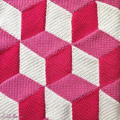 Crochet Along: Un plaid à la manière de Vasarely #1