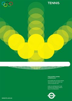 Olympics Movement Poster-Tennis   Alan Clarke // #graphicDesign #illustration #advertising