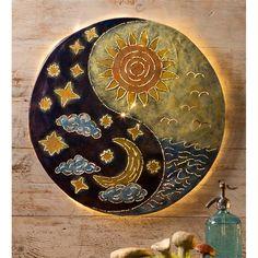 Sun & Moon Yin Yang Wall Art | Wall Art | Wind & Weather