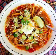 Eva Longoria's Chicken Tortilla Soup from her restaurant Beso. Simply delicious!
