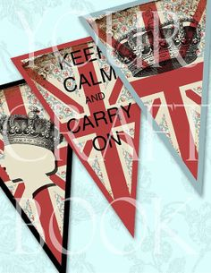 CARRY ON Bunting  Collage Sheet  Digital by yourcraftephemera, $3.99