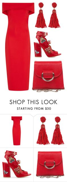 """""""Lady in Red"""" by cherieaustin on Polyvore featuring Cushnie Et Ochs, Laurence Dacade and Little Liffner"""