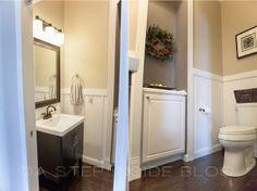 DIY Half Bath Re-Do | Bathroom Before & After ©A Step Inside Board & Batten