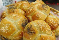 Nadýchané houstičky z Vysočiny od Barušky. Slovak Recipes, Bread Recipes, Bread Rolls, Dumplings, Food And Drink, Pizza, Cookies, Baking, Eat