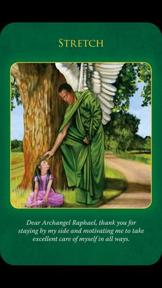 Archangel Raphael is guiding you to stretch your body in gentle, feel-good postures such as yoga or Pilates. Archangel Prayers, Angel Readings, Animal Spirit Guides, Angel Guide, Archangel Raphael, Healing Words, Angels Among Us, Angel Cards, Spiritual Guidance