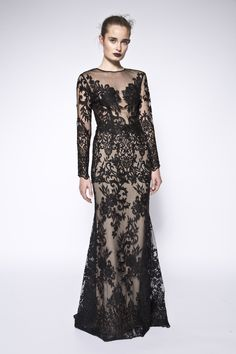 4d059a3c456 Lace embellished gown. The Milla dress is a black sheer gown carefully  embellished with lace