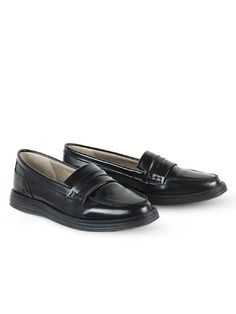9a789011d0c Vegan Vegetarian Non-Leather Womens Black Loafers Chunky Loafers