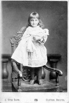 Victorian Cabinet Card Portraits of Children in Bristol England by Running in Suffolk, via Flickr