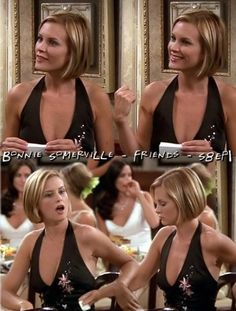 Ross's girlfriend Mona (Bonnie Somerville) from Friends.