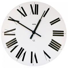 Alessi Firenze Wall Clock Black