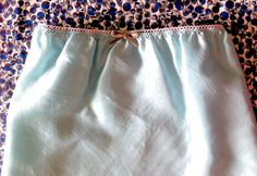 Instead of going to the mall to buy an old-fashioned granny slip, make a custom slip yourself. You don't even need to buy a pattern! Learn how here.