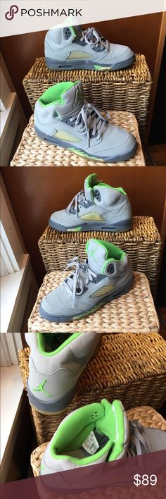 promo code 2b0bd 1cb0d Air Jordan Retro 5 Green Bean size 5.5Y NIKE AIR JORDAN 5 RETRO (GS