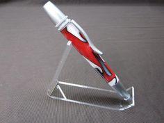 Custom Polaris / Atlas pen in Scarlet & Gray by ShjonsPensandStuff, $27.99