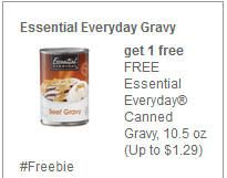 FREE Essential Everyday Canned Gravy at Farm Fresh, Hornbachers, Shop 'N Save, Shoppers, and Cub Stores on http://www.icravefreebies.com/