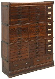 Lot: Oak Sectional Stacking File Cabinet, Lot Number: 0180, Starting Bid: $350, Auctioneer: Fontaine's Auction Gallery, Auction: Antiques & Fine Art Auction, Date: April 22nd, 2017 PDT