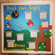 Stress Management Bulletin Board (Angry Birds theme)